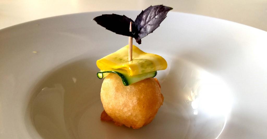 veg, con carpaccio di zucchine verdi e gialle del mercoledì