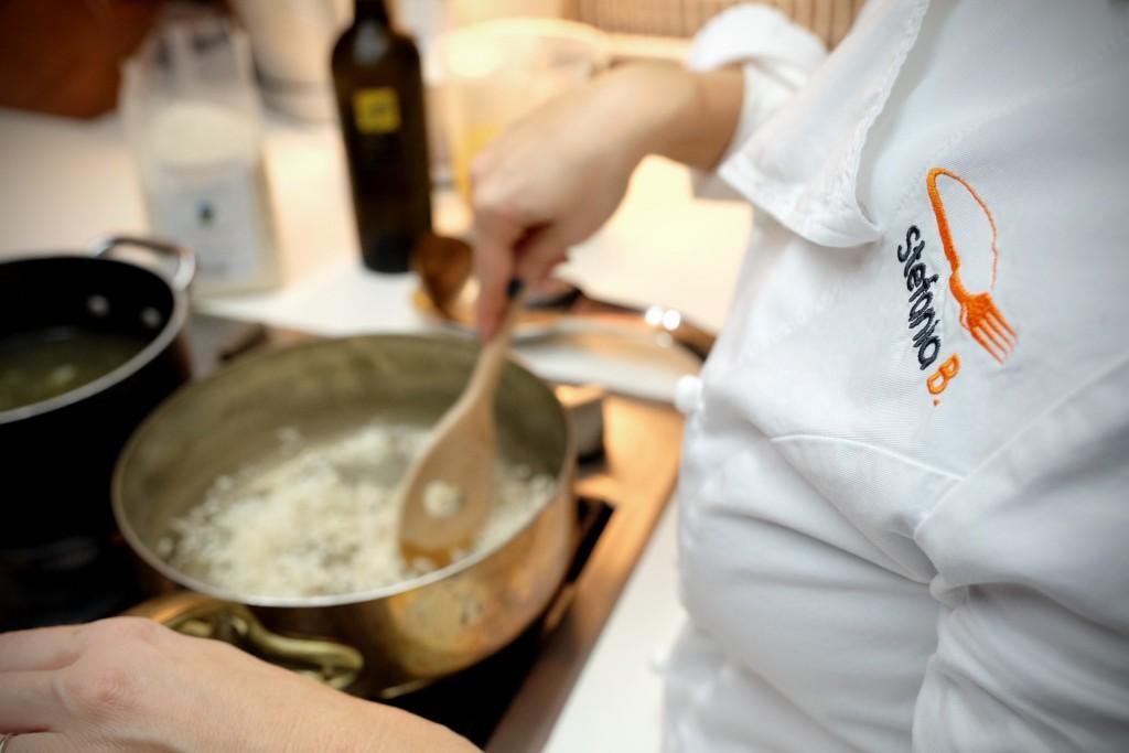 ricetta del risotto zucca, castagne e cioccolato